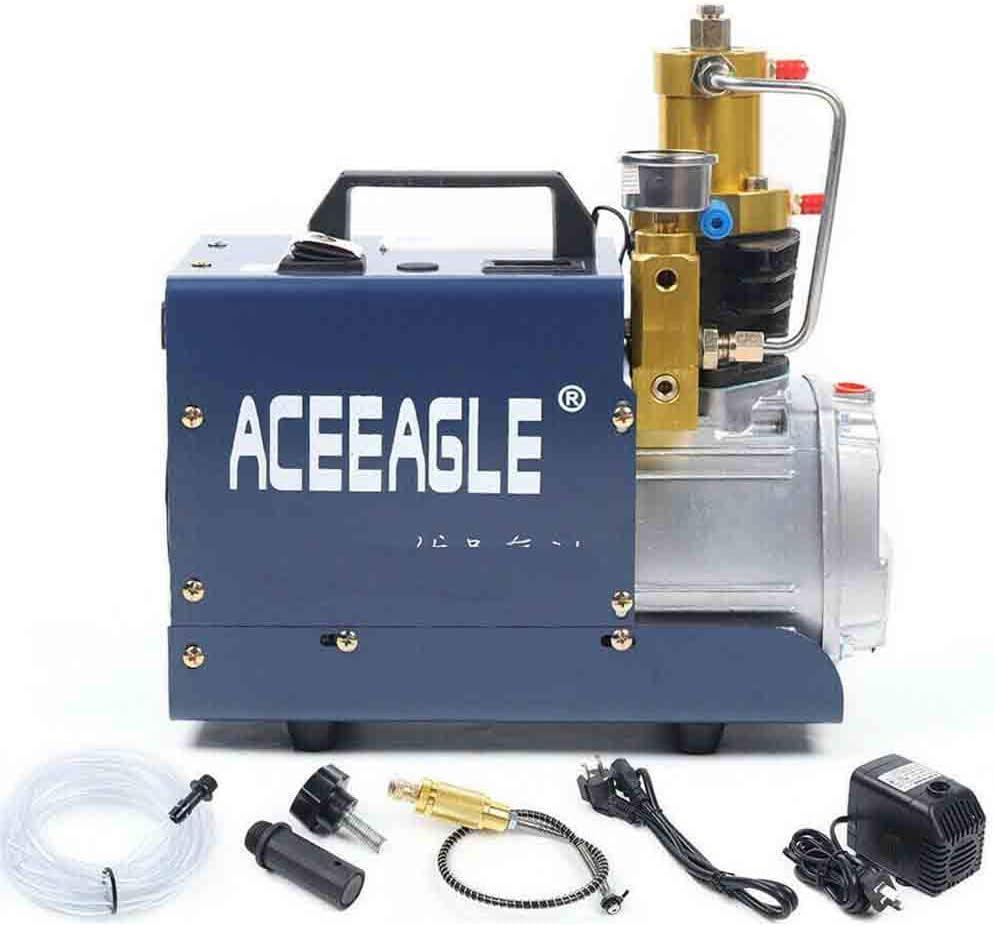 Compresor de aire de alta presión 30 Mpa 1800 W PCP bomba de aire de alta presión eléctrica inflador 300 bar 4500 PSI (apagado manual)