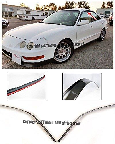 Jdm Integra (For 94-01 Acura Integra 4Dr Sedan Smoke Tinted JDM Style Tape-On Side Window Visors Rain Guard Deflectors 1994 1995 1996 1997 1998 1999 2000 2001 94 95 96 97 98 99 00 01 DB7 DB8)