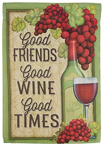 Carson Home Accents FlagTrends 46963 Wine Good Times Classic