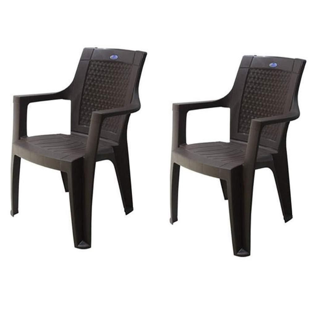 Nilkamal Plastic Chair Rosa Set of 7 (Red)