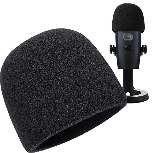 Mic Cover Microphone Foam Windscreen for Blue Yeti Nano Condenser Microphone (Size B, 1 Pack)