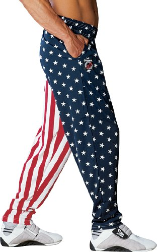 Otomix Men's USA American Flag Baggy Workout Pants Small (Halloween Costumes With Red Pants)