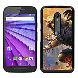 Hot Sale Motorola Moto G 3rd Generation Case ,smite wolf animal castle art Black Moto G 3rd Gen Cover Unique And Beautiful Designed Phone Case