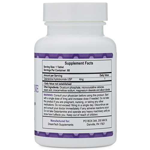 Galantamine - Lucid Dreaming & Nootropic Supplement - 4 Mg - 60 Tablets by Double Wood Supplements (Image #6)