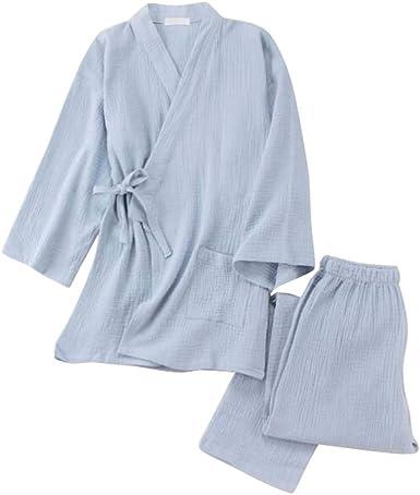 Pijamas japoneses de algodón para Mujer, Prendas de Sudor ...