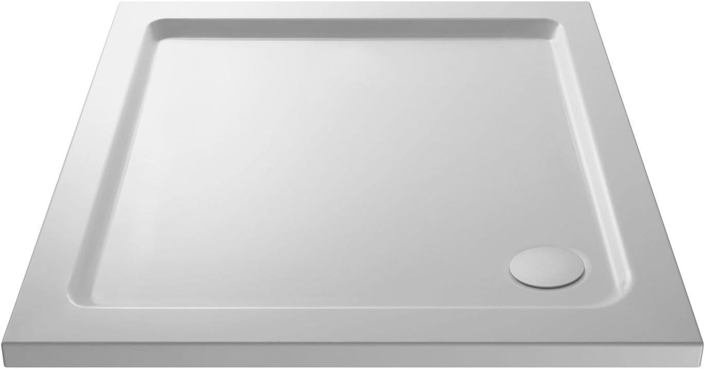 Nuie NTP010 NTP010-Plato de ducha (900 x 900 mm), diseño cuadrado ...