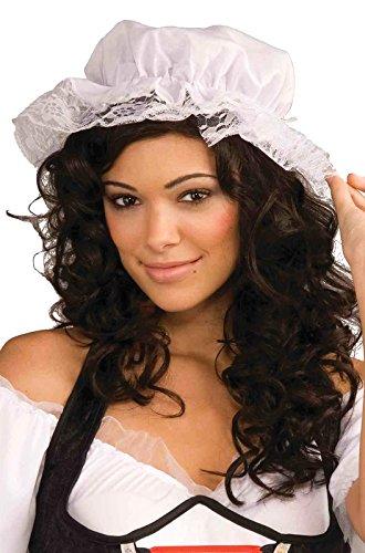 Mob Wife Costume Accessories (White Mob Cap Hat Mop Colonial Bonnet Pilgrim Adult Costume Accessory)