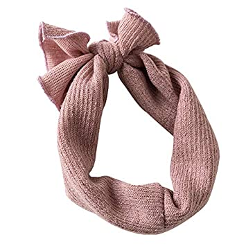 Baby Toddler Cotton Linen Nylon Bow Alete Headband Solid Color Hairband Hair Tie