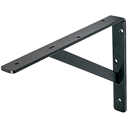 Black HD Steel Shelf Bracket, 19-1/2