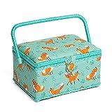 Hobby Gift HGM/211 | Fox Print Medium Sewing Basket 18½x26x16cm
