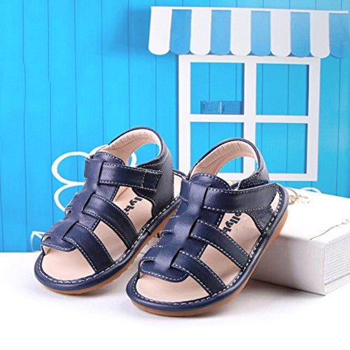 Scothen Playa de verano cerrado sandalias zapatos para caminar al aire libre ultraligero calzado transpirable plana unisex niños muchachas ocio zapatos de trekking para caminar/sandalias de la mitad Blue