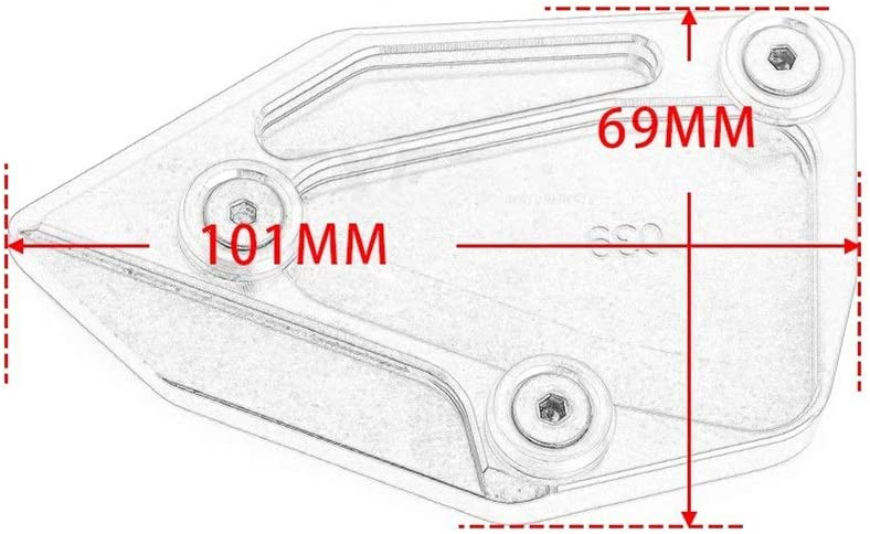 Color : Black C650GT St/änder Motorrad-Side Vergr/ö/ßern Platte St/änderverl/ängerung//Fit for BMW C650GT 2012 2013 2014 2015 2016 C600 Sport 2012 2013 2014 2015
