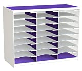 Paperflow Master Literature Organizer, 24 Compartment White/Purple (802.13.19)