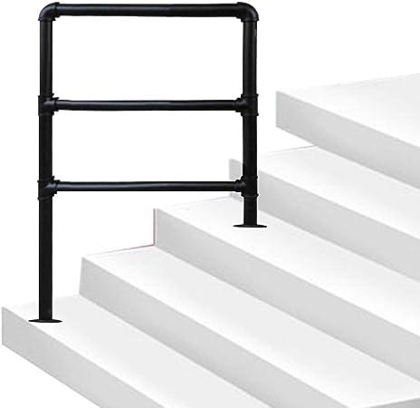 Pasamanos de 3 escalones, pasamanos de escaleras Interiores y Exteriores para Parque de pórticos, pasamanos auxiliares Antideslizantes para Ancianos, pasamanos de Escalera Personalizables de Hierro: Amazon.es: Hogar