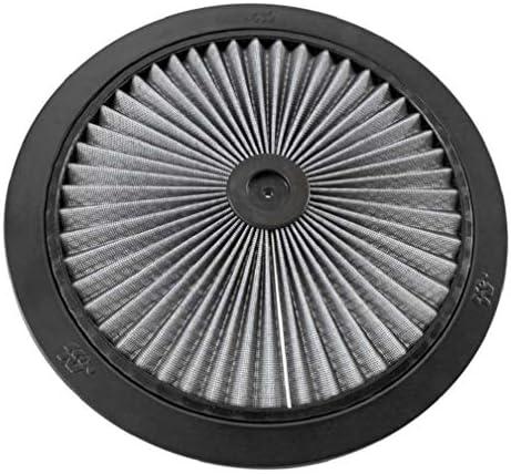 K&N X-Streamトップフィルター:高性能、プレミアム、洗浄可能、交換用エンジンフィルター:フィルターの高さ:1インチ、形状:丸型蓋、66-1400R。