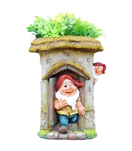 Planter Gnome (SINTECHNO SNF91190-1 Cute Gnome House Flower Planter, Tall)