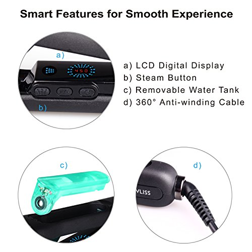 Flat Iron Hair Straightener Hair Flat Iron Straightener With STEAM Technology 5D Heating Teeth