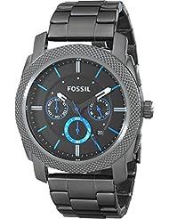 Fossil Mens FS4931 Machine Gunmetal-Tone Stainless Steel Bracelet Watch