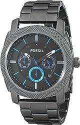 Fossil Men's FS4931 Machine Gunmetal-Tone Stainless Steel Bracelet Watch