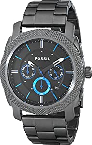 Fossil Men's FS4931 Machine Gunmetal-Tone Stainless Steel Bracelet Watch