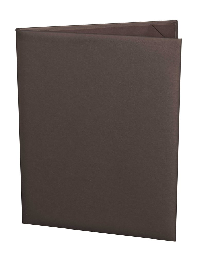 (10 Pack) Classic Faux Leather Menu Covers, 2-panel (8.5'' x 11'', Chocolate Brown) by Captivating Covers