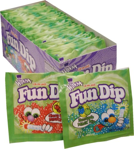 Fun Dip Assorted Flavor Party Pack - 48 Piece Pack, 0.43 oz Packets by LIK-M-AID Fun Dip