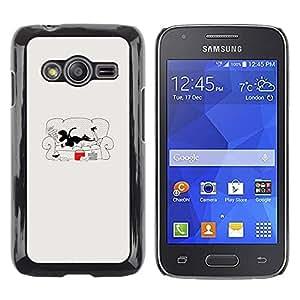 Be Good Phone Accessory // Dura Cáscara cubierta Protectora Caso Carcasa Funda de Protección para Samsung Galaxy Ace 4 G313 SM-G313F // Read Fashion Girls Lazy Couch