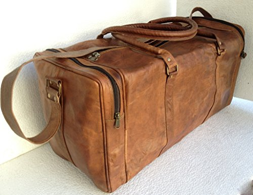 Genuine Leather Duffle Weekend Luggage
