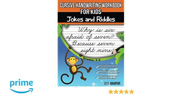 Cursive Handwriting Workbook for Kids: Jokes and Riddles: Exl ...