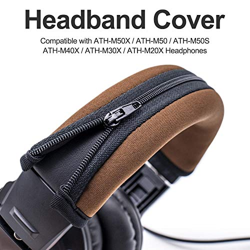 Brown Replacement Headband Cover Compatible ATH M50X M50 M40X M40 M30X M20X Headphones
