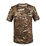 Ynport Men Quick Dry Hunting Camouflage T-shirt Breathable Tactical Combat Army