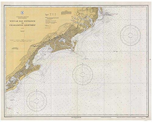 Winyah Bay Entrance to Isle of Palms-1933-Georgetown North Santee McClellanville South Carolina - Nautical Map Reprint 80000 AC Chart (North Entrance)