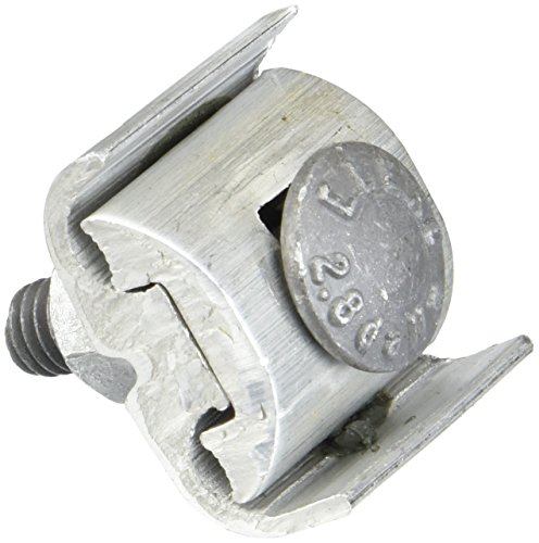 Aluminum Dual Rated Parallel Groove Clamp for 2 STR - 6 SOL - 1 Count ()