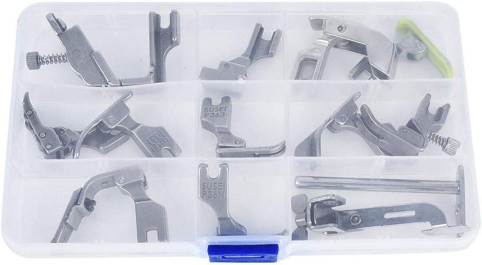 Accesorios Maquina De Coser Piezas Prensatelas Para Industrial Accesorio M/áquina Acero 12