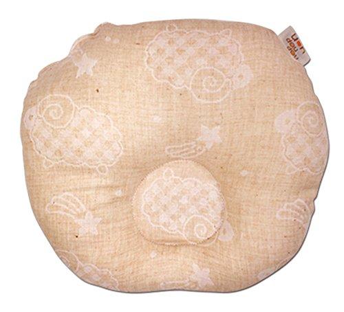 オーガニック ベビーまくら ≪ひつじ≫ (綿100% オーガニックコットン ダブルガーゼ) 20×22cm No.1121