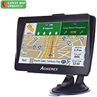 "GPS Navigation for Car, Aonerex 7"" Touch Screen 8GB Real Voice Spoken Turn-by-Turn Direction Reminding Navigation System for Cars, Vehicle GPS Satellite Navigator with Free Lifetime Map Update"
