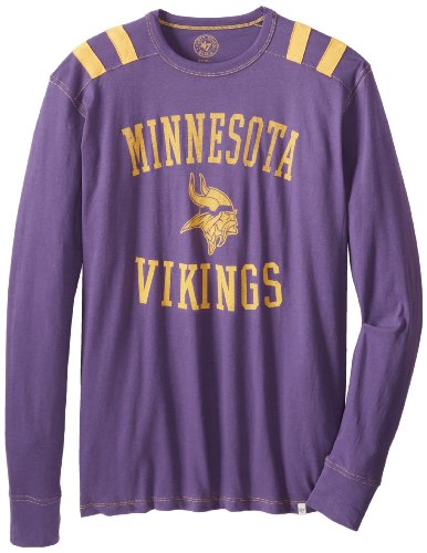 NFL Minnesota Vikings Men's Bruiser Long Sleeve Tee, Small, Grape