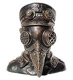 Steampunk Plague Doctor Bust Trinket Box Sculpture 7'' High