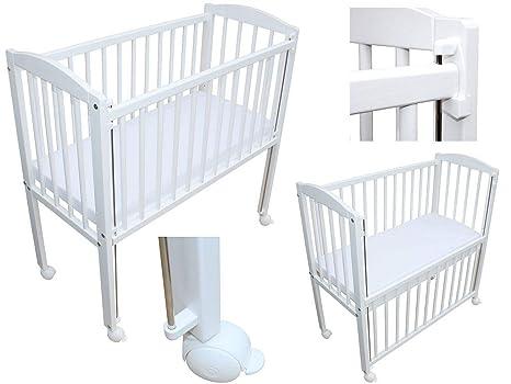 Beistellbett babybett 90x40 cm mit matratze und räder
