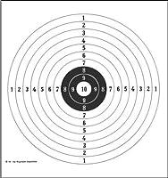 10er Ringscheibe - Jagdscheibe 109 - 55x55cm