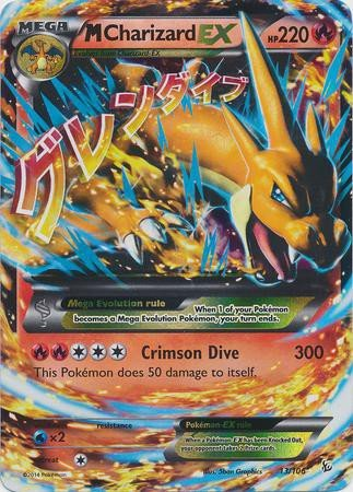 photograph regarding Printable Pokemon Cards Mega Ex titled Mega/M Charizard EX (XY Flashfire #13/106) Unusual/Holo-Foil Pokemon Card