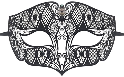 [Luxury Mask Diamond Design Laser Cut Venetian Masquerade Mask] (Male Masquerade Mask)