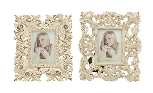 Deco 79 Polystone Photo Frame 2 Assorted, 9 by 11″ For Sale