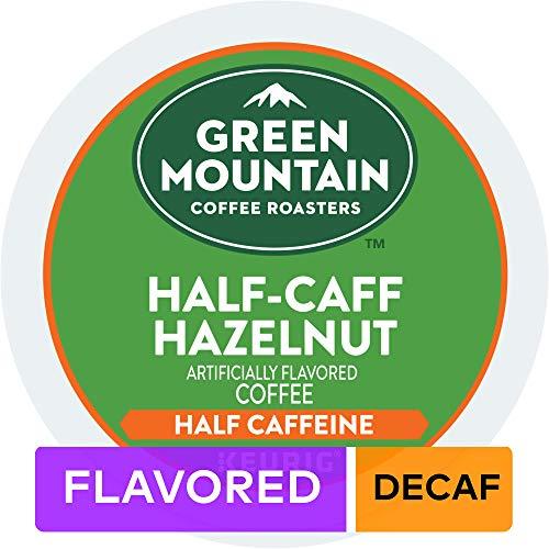 Green Mountain Coffee Half Caff Hazelnut Single Serve K-Cup Pod Flavored Coffee, 72 Count