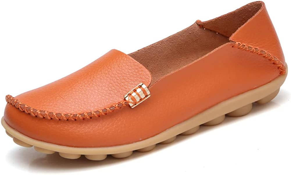 DUOYANGJIASHA Fashion Brand Best Show Women's Comfortable Leather Loafers Casual Round Toe Moccasins Wild Driving Slip On Flats Fashion Comfortable Shoes