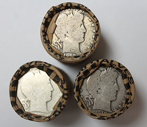 Barber Half Dollars 1892-1915 (20 Coin Roll) - Average Circulated
