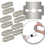 corn and callus trimmer - Foot Care Set Kit of 50pcs Stainless Steel Replacement Razor Blades for Hard Calluses Removers Corns Shavers Horn Skin Cutters Planers Pedicure Peelers