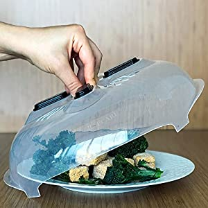 Hover Cover Magnetic Microwave Splatter Guard - Magnetic Microwave Splatter Lid With Steam Vents Anti-Sputtering Cover As Seen On Tv, 11.8 Inches | by Ilsecare-Home