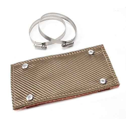 Exhaust Motorcycle Shields Heat (DEI 010453 Titanium Pipe Shield - Exhaust Heat Shield, 4