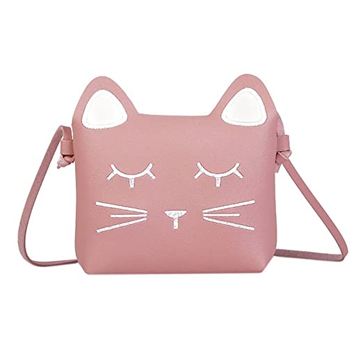 abed2afd88 Amazon.com  Bags us Kids Purse Cute Cat Crossbody Bag Girls Coin Wallet  Mini Shoulder Satchel Handbags  Clothing